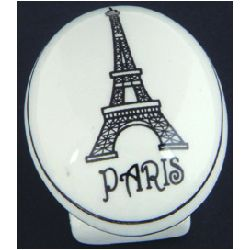 "Atlas Homewares ""Bon Voyage"" Paris Ceramic Cabinet Knob"